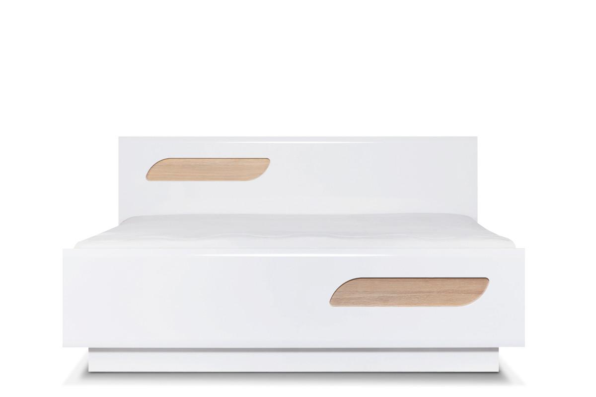 Podwójna rama łóżka 160 x 200 cm w stylu skandynawskim biała