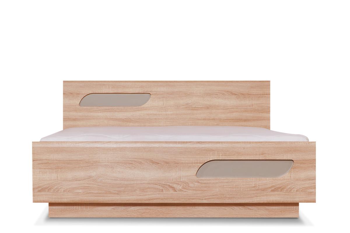 Podwójna rama łóżka 160 x 200 cm w stylu skandynawskim dąb szary