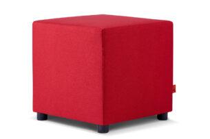 CHOE, https://konsimo.pl/kolekcja/choe/ Kolorowy puf do pokoju dziecka czerwony czerwony - zdjęcie