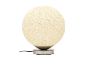 KOLLA, https://konsimo.pl/kolekcja/kolla/ Lampa stołowa srebrny/kremowy - zdjęcie
