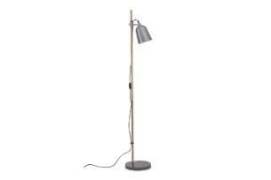 PLISO, https://konsimo.pl/kolekcja/pliso/ Lampa podłogowa szary - zdjęcie