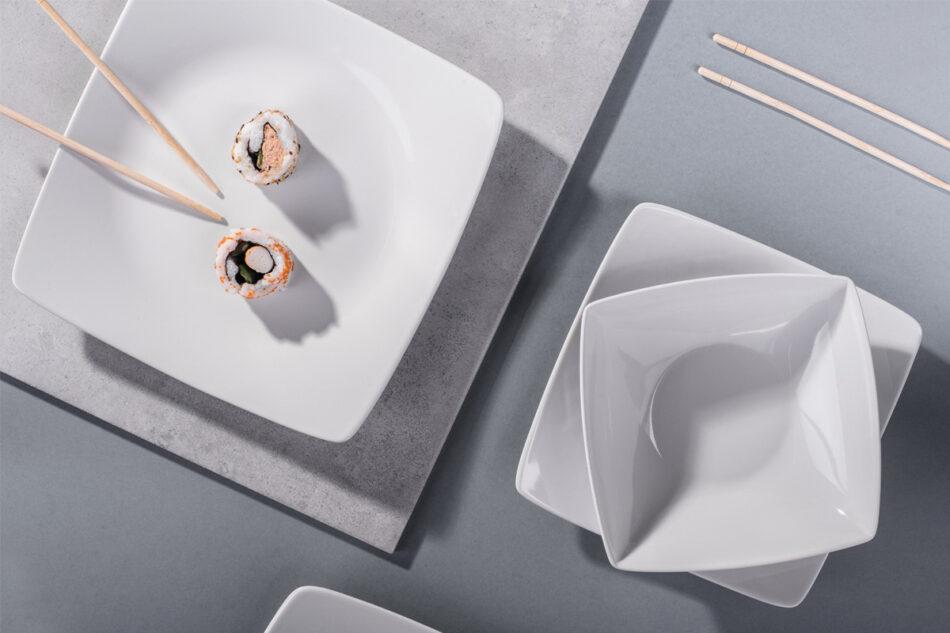 EPIRI Serwis obiadowy kwadratowy 12 elementów biały dla 4 osób biały - zdjęcie 2