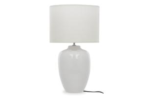 ZANNA, https://konsimo.pl/kolekcja/zanna/ Lampa stołowa biały - zdjęcie