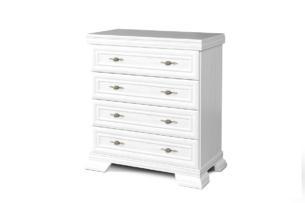IMPERIO, https://konsimo.pl/kolekcja/imperio/ Biała komoda z szufladami biały - zdjęcie