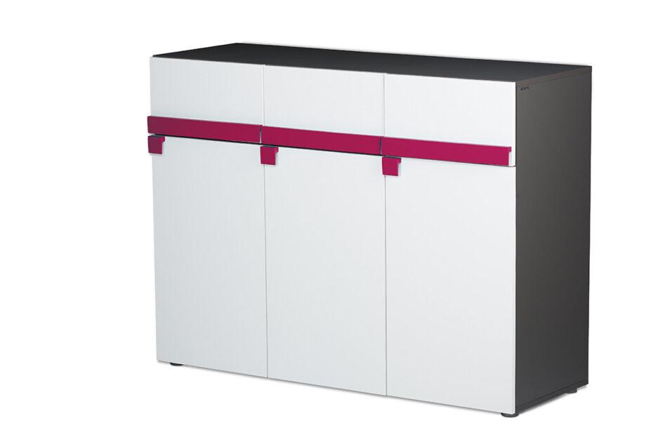 SHIBU Pojemna komoda dla dziecka grafit/biały/różowy - zdjęcie 2