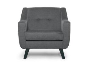 TERSO, https://konsimo.pl/kolekcja/terso/ Skandynawski fotel tkanina plecionka szary ciemny szary - zdjęcie