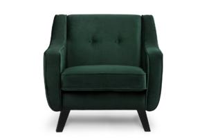 TERSO, https://konsimo.pl/kolekcja/terso/ Skandynawski fotel welurowy butelkowa zieleń ciemny zielony - zdjęcie