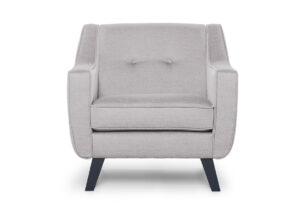 TERSO, https://konsimo.pl/kolekcja/terso/ Skandynawski fotel tkanina plecionka platyna platynowy - zdjęcie