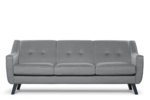 TERSO, https://konsimo.pl/kolekcja/terso/ Skandynawska sofa 3 osobowa tkanina plecionka ciemnoszara ciemny szary - zdjęcie