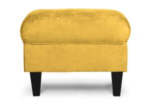 MILES, https://konsimo.pl/kolekcja/miles/ Podnóżek żółty welur czarne nóżki żółty - zdjęcie