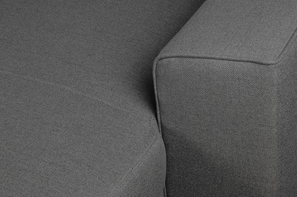 BRINAT Prosty narożnik z funkcją spania prawy antracytowy antracytowy - zdjęcie 7