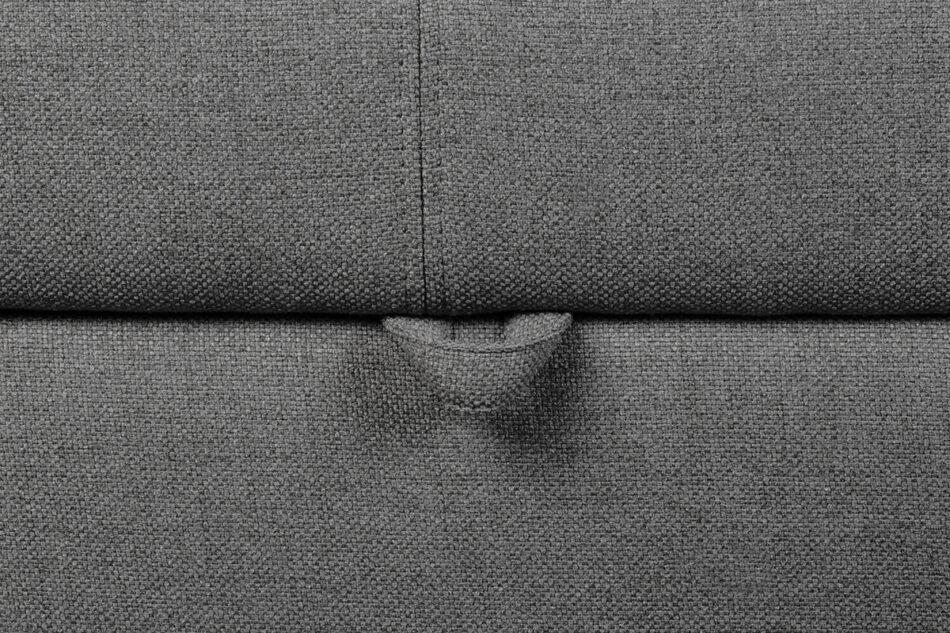 BRINAT Prosty narożnik z funkcją spania prawy antracytowy antracytowy - zdjęcie 9