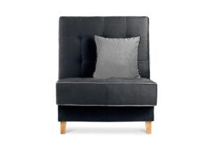 DOZER, https://konsimo.pl/kolekcja/dozer/ Czarny fotel do pokoju czarny/szary - zdjęcie