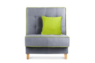 DOZER, https://konsimo.pl/kolekcja/dozer/ Kolorowy fotel do pokoju szary/zielony - zdjęcie