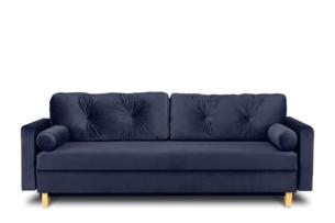 ERISO, https://konsimo.pl/kolekcja/eriso/ Granatowa sofa 3 osobowa rozkładana granatowy - zdjęcie