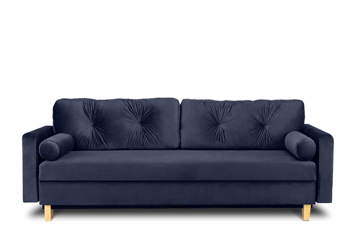 Granatowa sofa 3 osobowa rozkładana