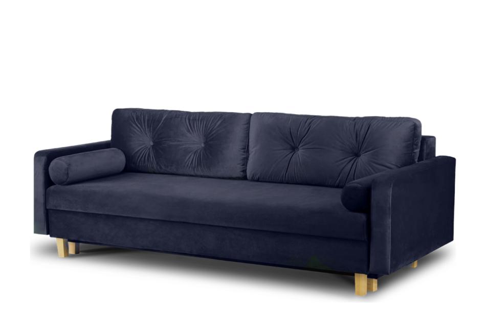 ERISO Granatowa sofa 3 osobowa rozkładana granatowy - zdjęcie 2