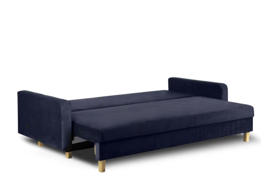 ERISO Granatowa sofa 3 osobowa rozkładana granatowy - zdjęcie 3