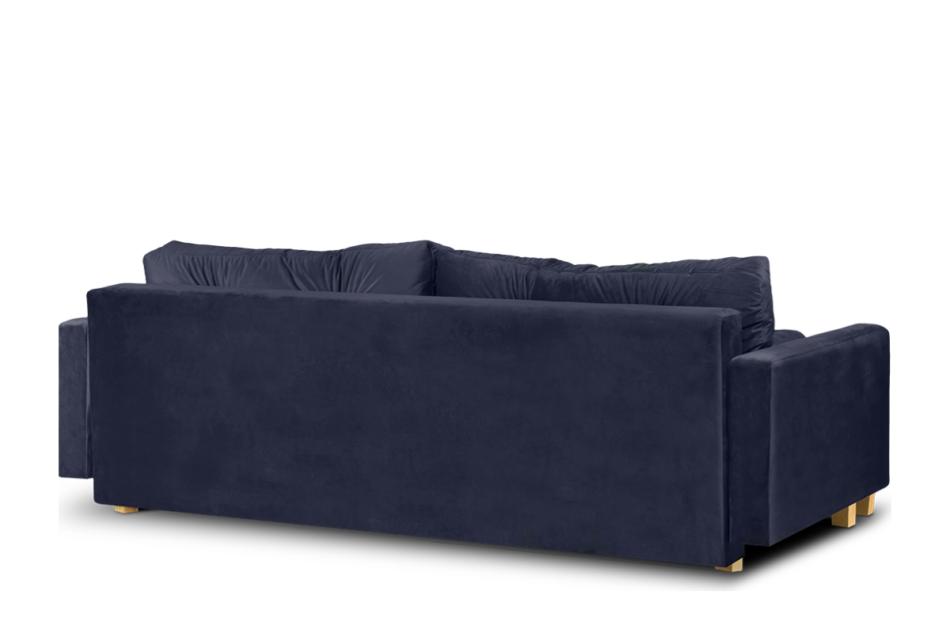 ERISO Granatowa sofa 3 osobowa rozkładana granatowy - zdjęcie 4