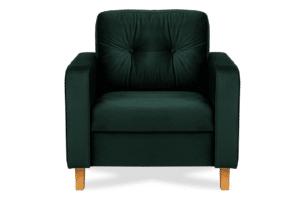 ERISO, https://konsimo.pl/kolekcja/eriso/ Welurowy fotel butelkowa zieleń do salonu ciemny zielony - zdjęcie