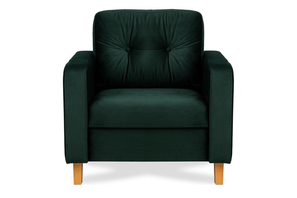 ERISO Welurowy fotel butelkowa zieleń do salonu ciemny zielony - zdjęcie 0