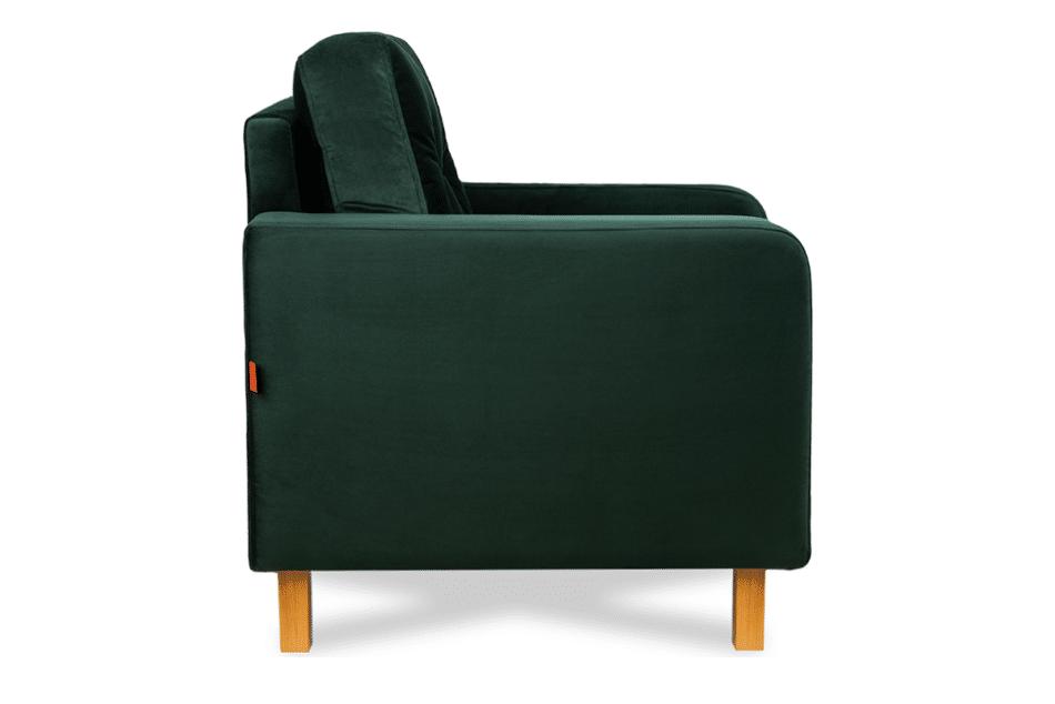 ERISO Welurowy fotel butelkowa zieleń do salonu ciemny zielony - zdjęcie 6