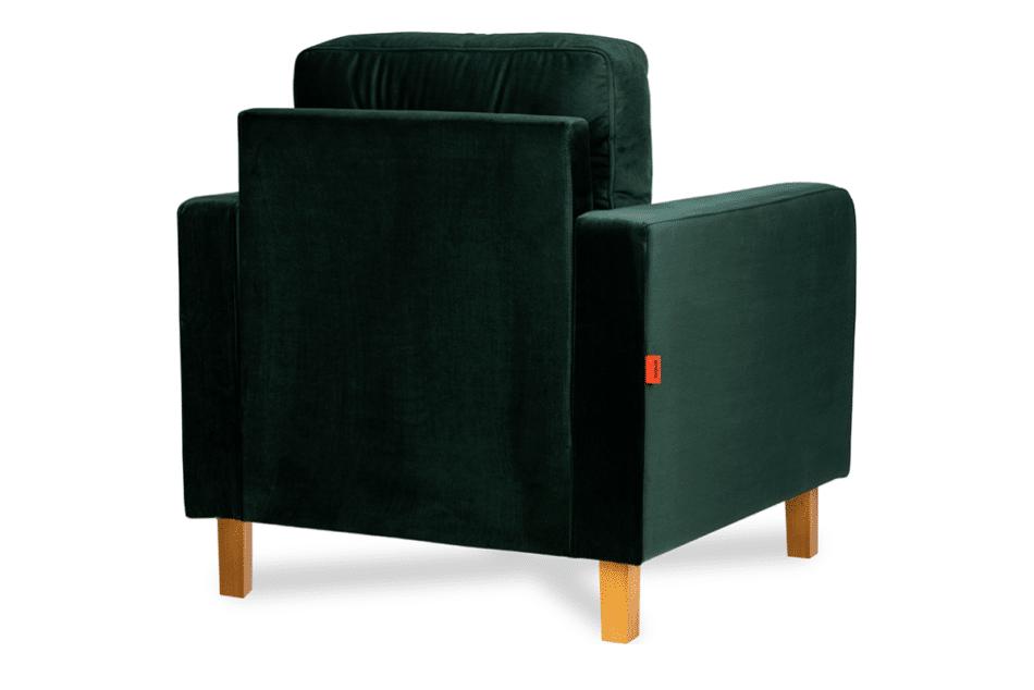 ERISO Welurowy fotel butelkowa zieleń do salonu ciemny zielony - zdjęcie 2
