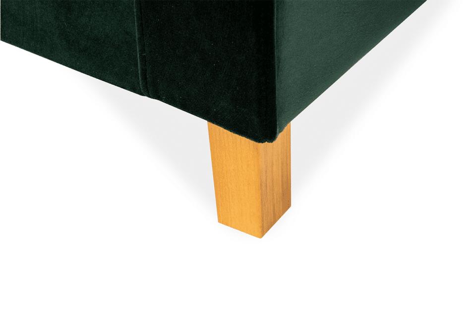 ERISO Welurowy fotel butelkowa zieleń do salonu ciemny zielony - zdjęcie 5