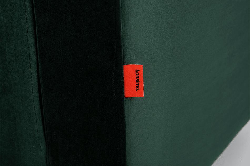 ERISO Welurowy fotel butelkowa zieleń do salonu ciemny zielony - zdjęcie 4