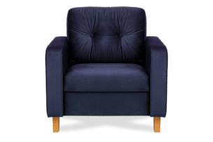 ERISO, https://konsimo.pl/kolekcja/eriso/ Granatowy welurowy fotel do salonu granatowy - zdjęcie