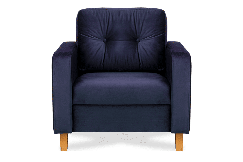 ERISO Granatowy welurowy fotel do salonu granatowy - zdjęcie 0