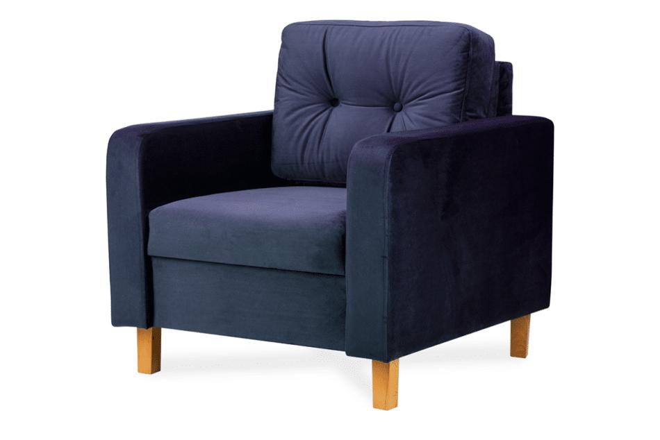 ERISO Granatowy welurowy fotel do salonu granatowy - zdjęcie 3
