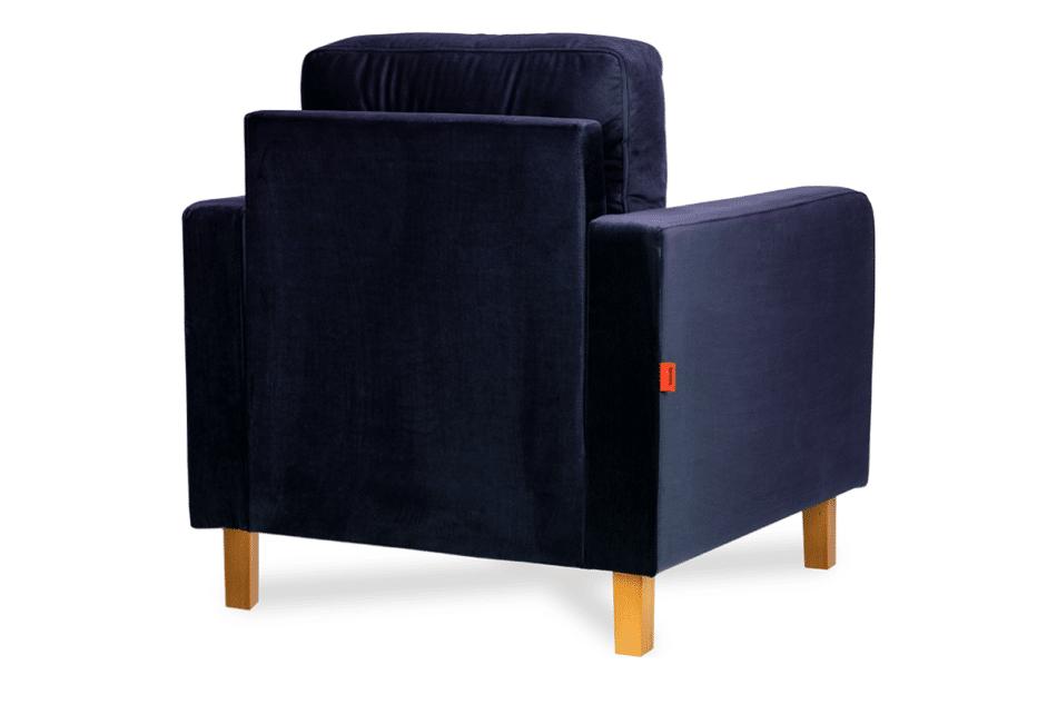 ERISO Granatowy welurowy fotel do salonu granatowy - zdjęcie 1