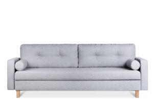 ERISO, https://konsimo.pl/kolekcja/eriso/ Szara sofa 3 osobowa rozkładana jasny szary - zdjęcie