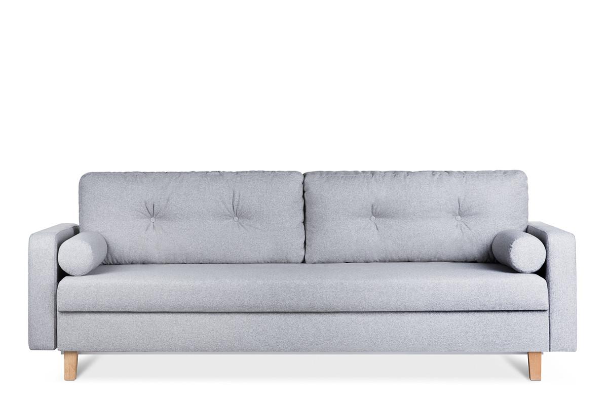 Szara sofa 3 osobowa rozkładana