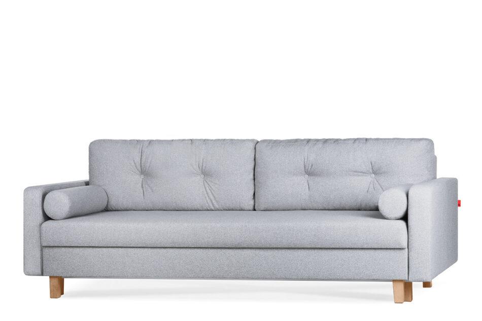 ERISO Szara sofa 3 osobowa rozkładana jasny szary - zdjęcie 1