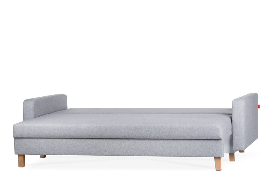 ERISO Szara sofa 3 osobowa rozkładana jasny szary - zdjęcie 2