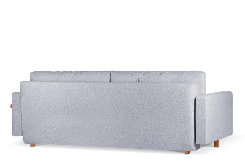 ERISO Szara sofa 3 osobowa rozkładana jasny szary - zdjęcie 4