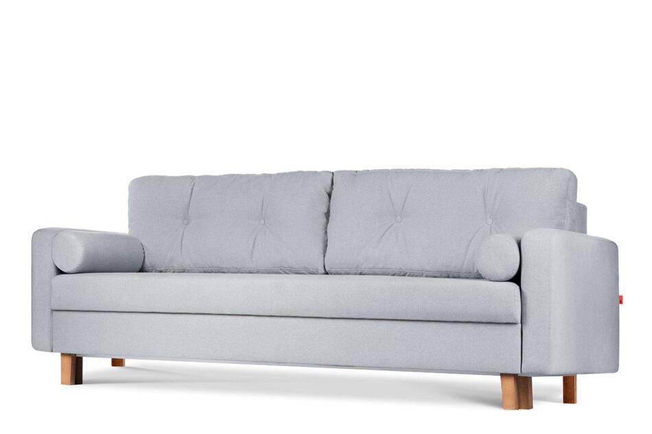 ERISO Szara sofa 3 osobowa rozkładana jasny szary - zdjęcie 3