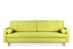 ERISO, https://konsimo.pl/kolekcja/eriso/ Żółta sofa 3 osobowa rozkładana żółty - zdjęcie