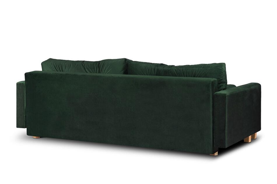 ERISO Sofa 3 osobowa rozkładana welur butelkowa zieleń ciemny zielony - zdjęcie 4