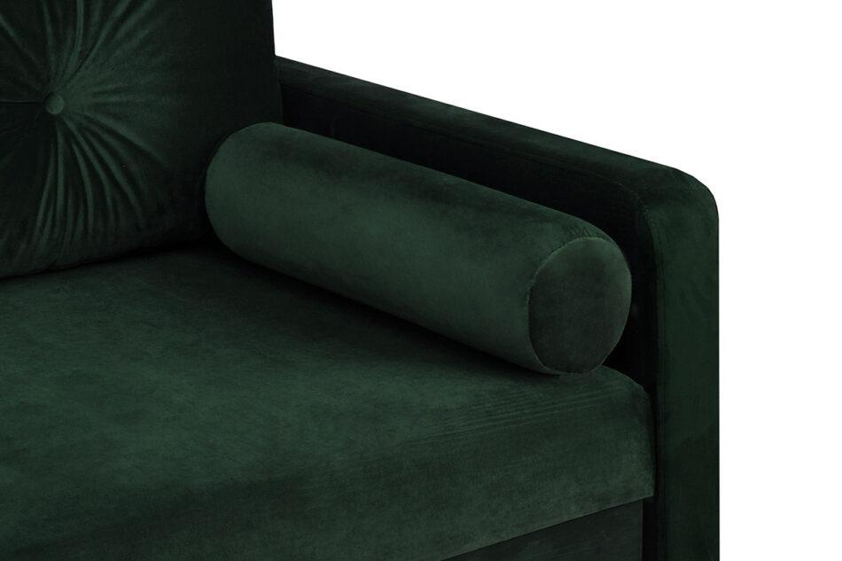 ERISO Sofa 3 osobowa rozkładana welur butelkowa zieleń ciemny zielony - zdjęcie 5
