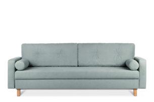 ERISO, https://konsimo.pl/kolekcja/eriso/ Zielona sofa 3 osobowa rozkładana miętowy - zdjęcie
