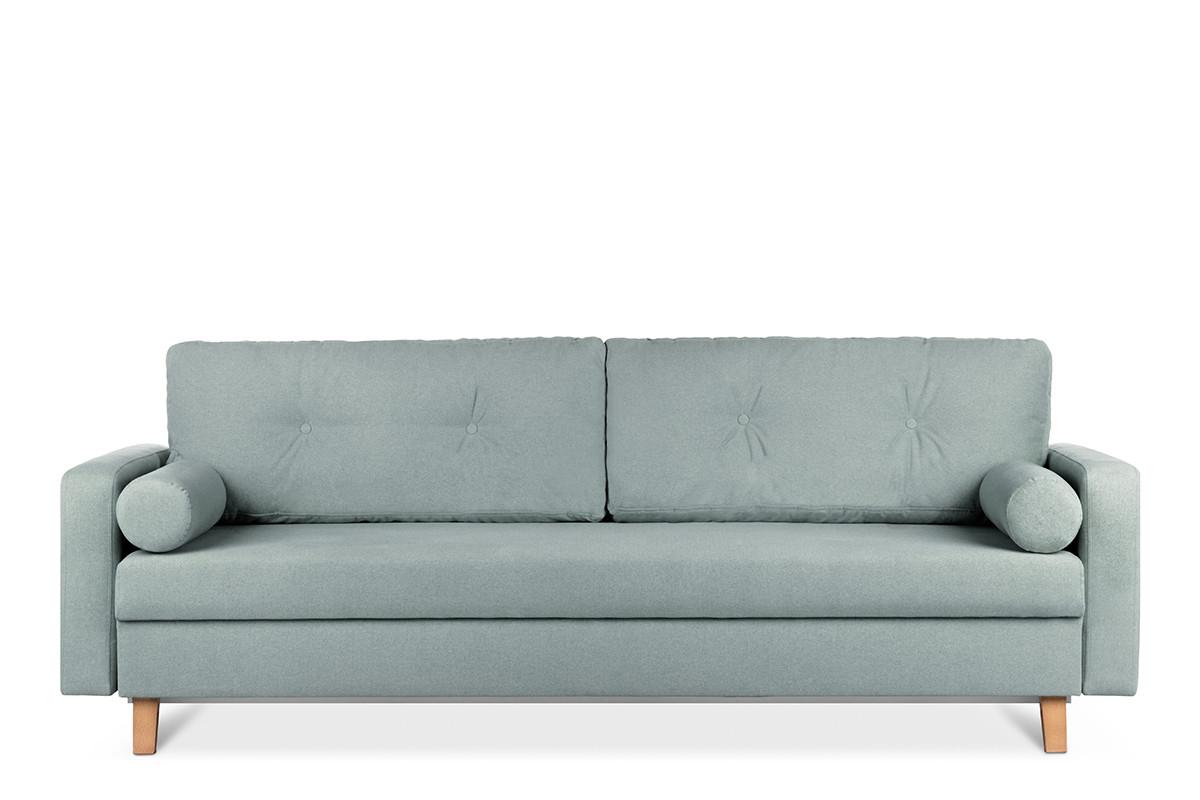 Zielona sofa 3 osobowa rozkładana