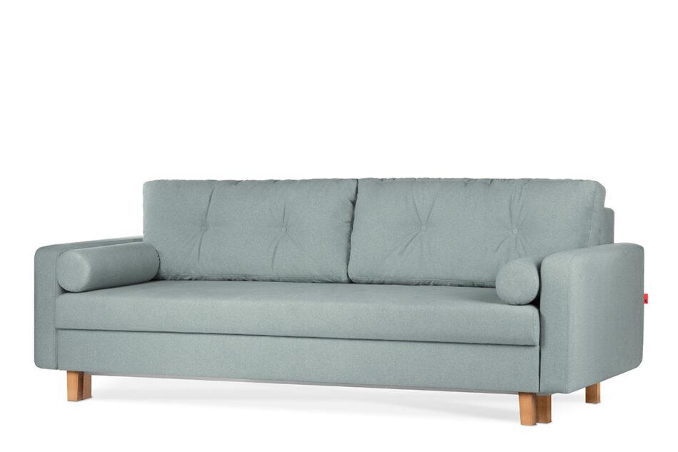 ERISO Zielona sofa 3 osobowa rozkładana miętowy - zdjęcie 1