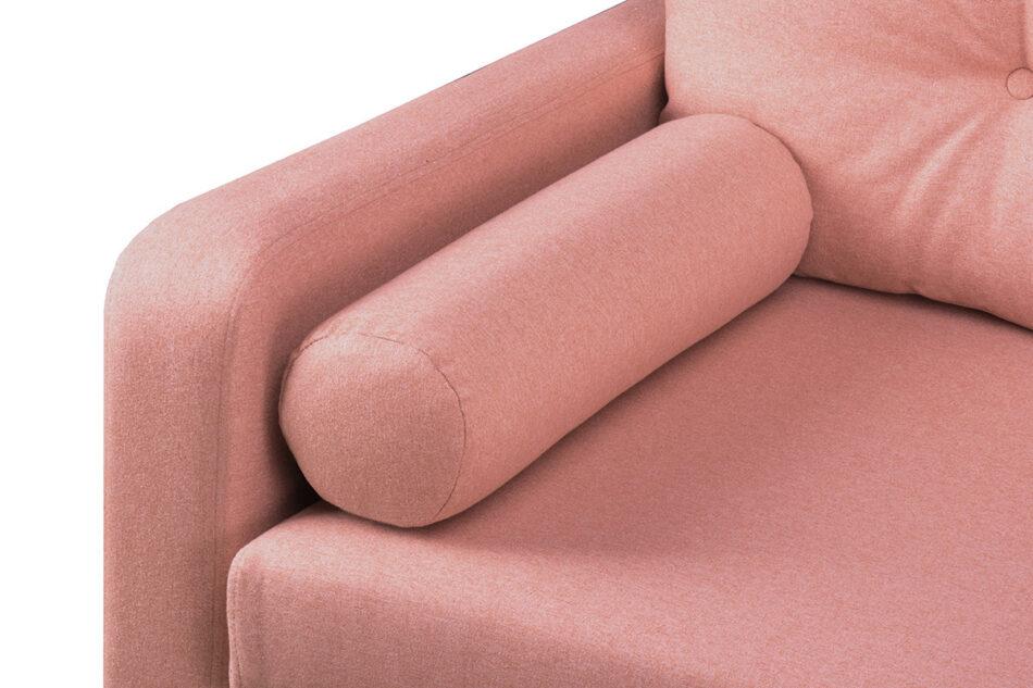 ERISO Różowa sofa 3 osobowa rozkładana koralowy - zdjęcie 4