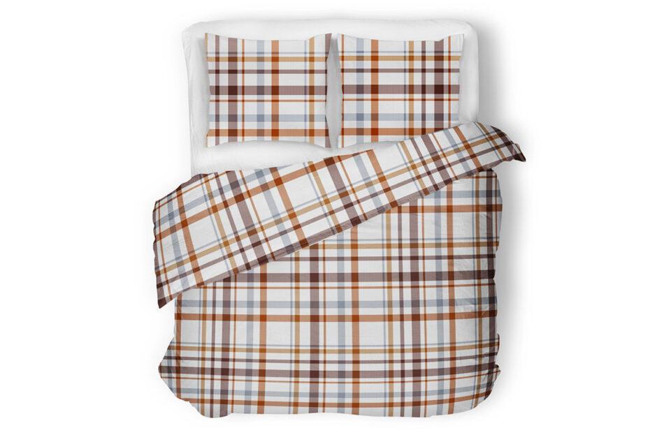 KOBES Komplet pościeli z bawełny biały/pomarańczowy/niebieski - zdjęcie 1