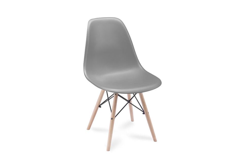 NEREA Szare krzesło skandynawskie ciemny szary - zdjęcie 0