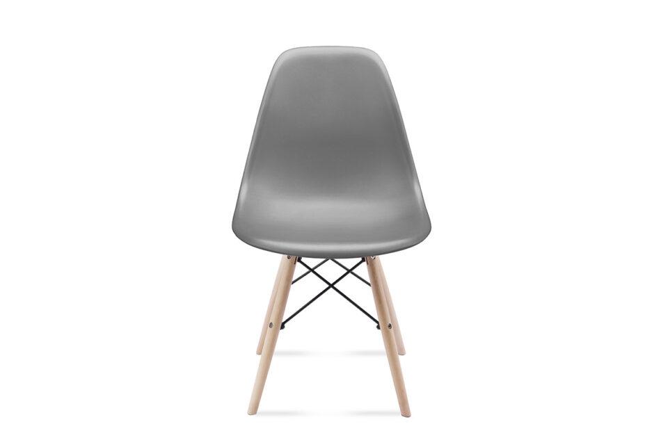 NEREA Szare krzesło skandynawskie ciemny szary - zdjęcie 1