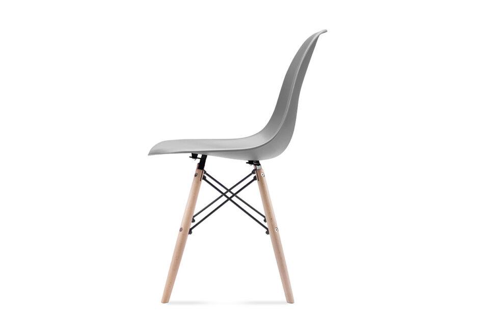 NEREA Szare krzesło skandynawskie ciemny szary - zdjęcie 2